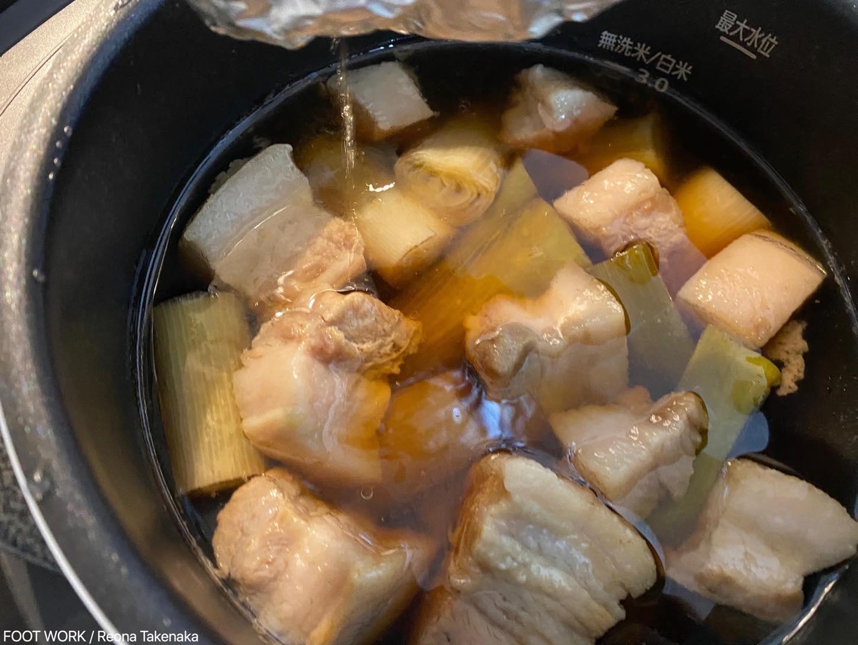 電気圧力鍋で角煮
